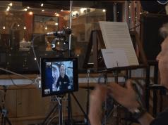 Videollamada de Paul McCartney y Luca Parmitano.