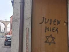 Pintada antisemita.