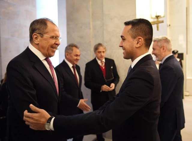 Serguei Lavrov y Luigi di Maio.