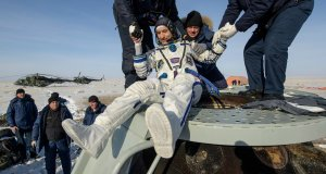 Luca Parmitano regresa a la Tierra.