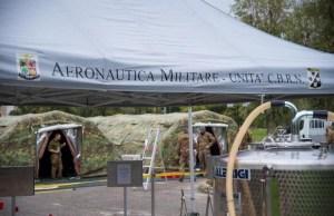 Cuarentena en base militar.