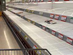 Supermercados vacíos.