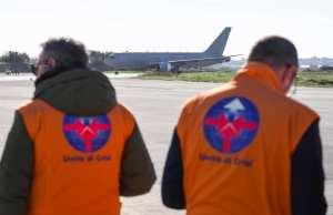 El vuelo militar con los repatriados.