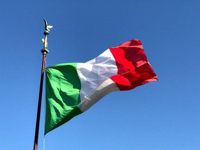 Bandera italiana.