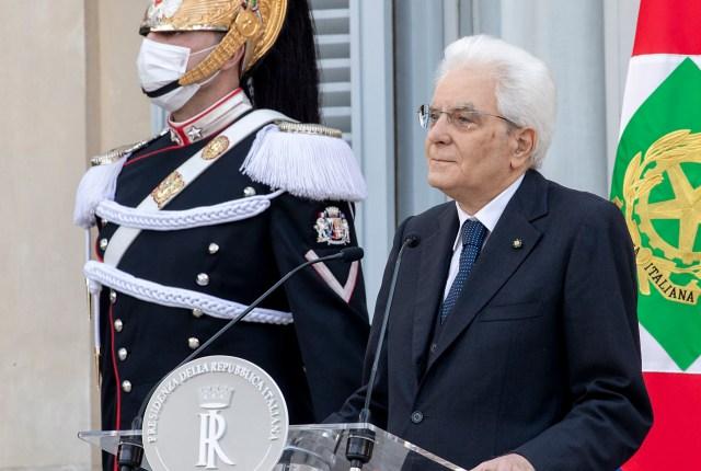 Sergio Mattarella en la Fiesta de la República 2020 (Foto: Presidencia de la República)