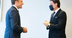 Conte y Macron, en Bruselas (Foto: Governo)