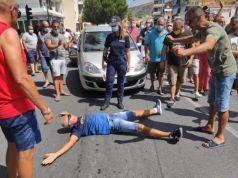 Protestas en Calabria
