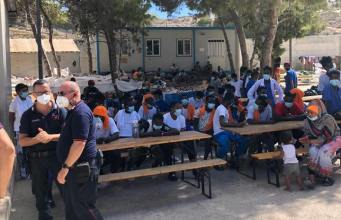 El centro de acogida de Lampedusa (Foto: Facebook Nello Musumeci)