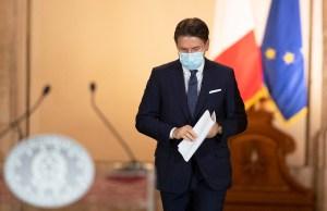 Conte, al anunciar las nuevas restricciones (Foto: Governo)