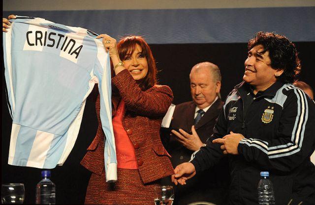 Cristina Kirchner y Maradona