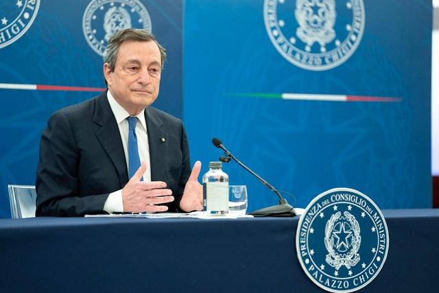 Mario Draghi en conferencia de prensa (Foto: Governo)