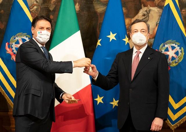 Giuseppe Conte y Mario Draghi (Foto: Governo - Archivo)