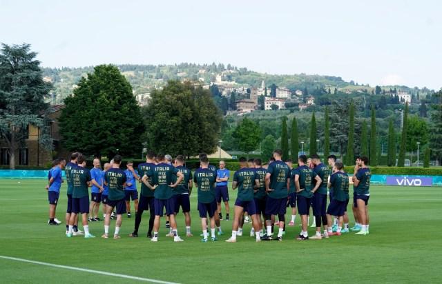 La selección italiana de fútbol en un entrenamiento (Foto: Federazione Italiana Giuoco Calcio)