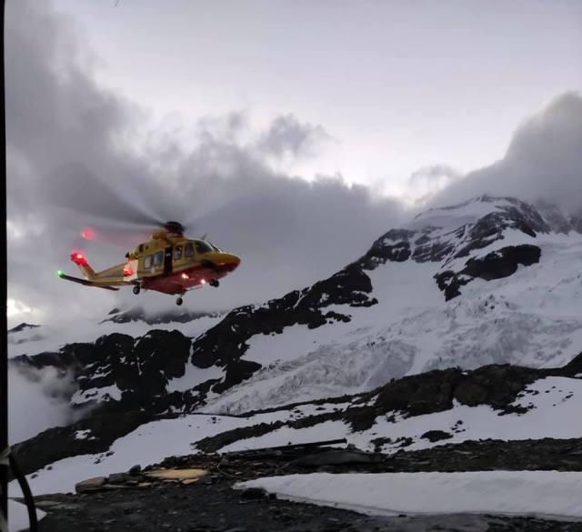 El rescate que intentó evitar la tragedia en el Monte Rosa (Foto: Facebook Soccorso Alpino)