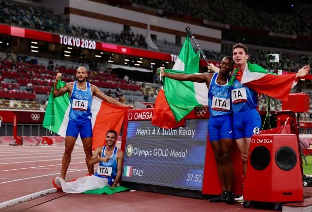 La carrera de postas 4x100 metros sumó una de las tres medallas de oro del 6 de agosto para Italia (Foto: World Athletics)