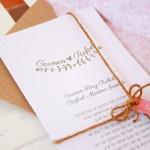 Invitaciones de boda Atm: modelo ramas