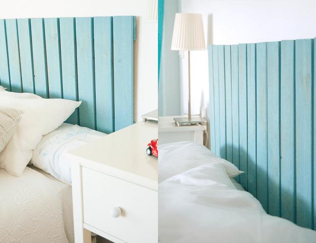 10 geniales ideas para hacer un cabecero de cama con - Hacer cabecero infantil ...