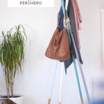 DIY perchero de barras de madera