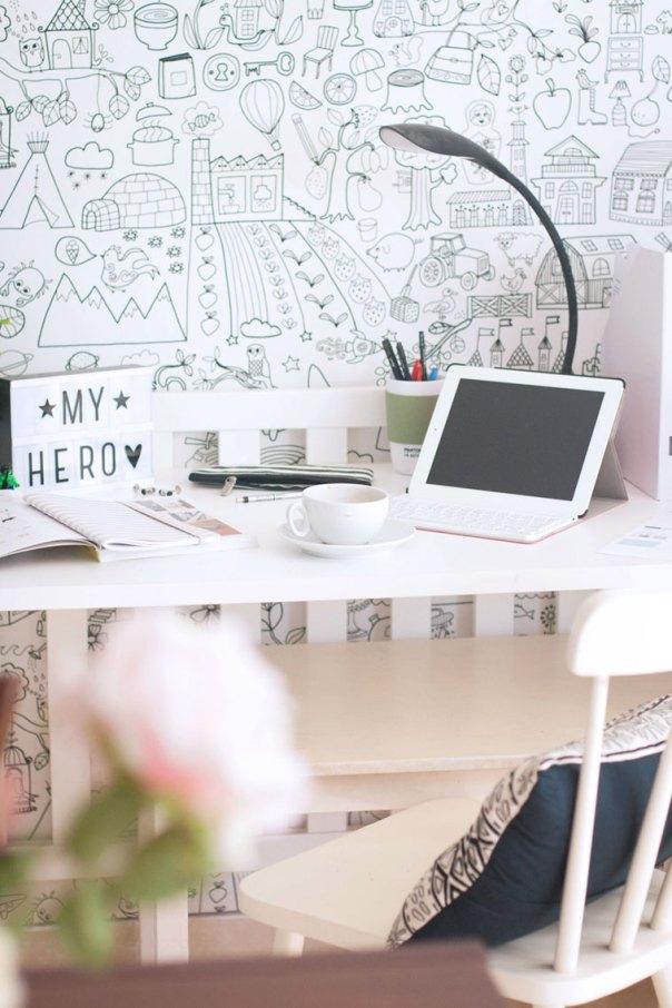 convertir una cuna en escritorio detalle
