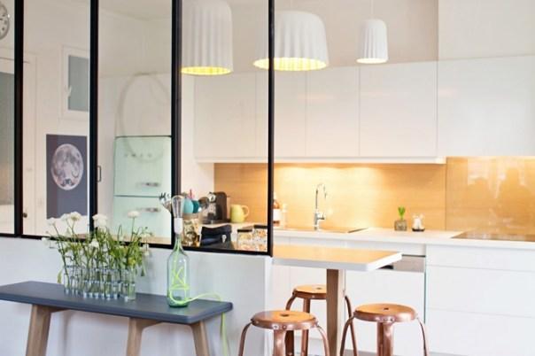 vidriera en cocina