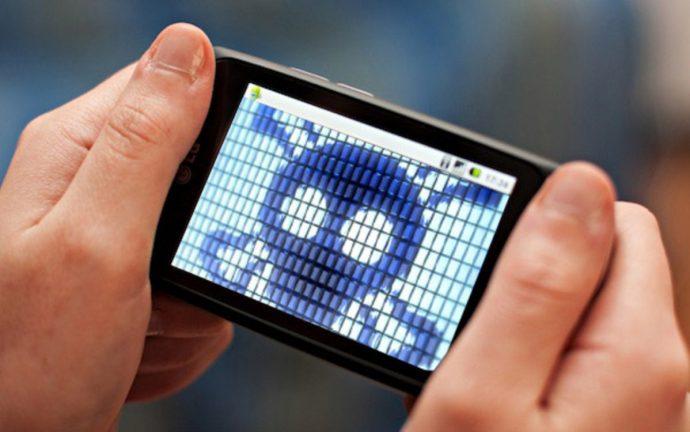 virus en smartphone