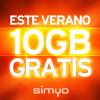 Simyo te regala 10 Gb para el verano