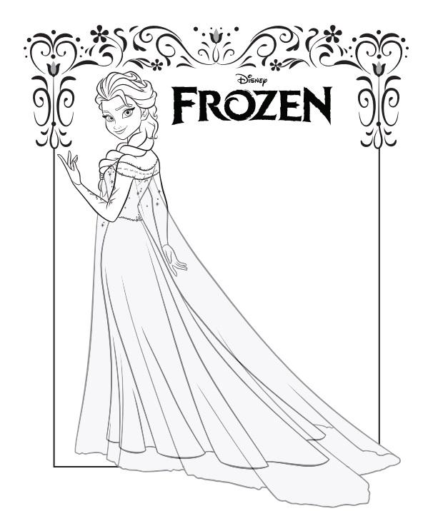 Fichas para colorear gratis de Frozen en PDF
