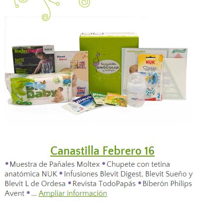 Canastilla gratis TodoPapas Febrero 2016.