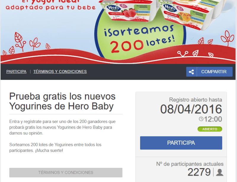 Prueba gratis Yogurines Hero Baby