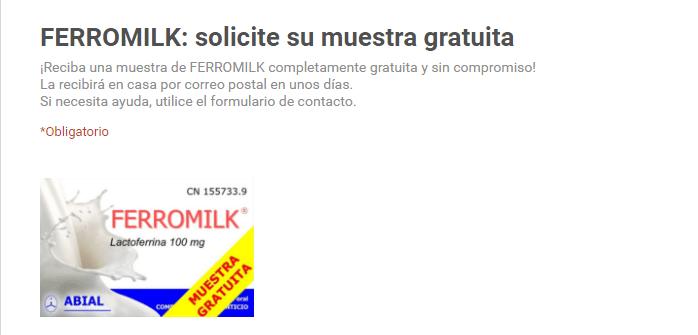 muestras gratis de ferromilk