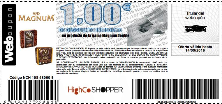 Descuento 1 Euro Magnum double