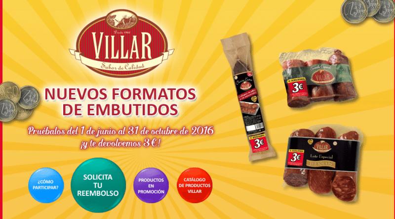 Reembolso 3 Euros embutidos Villar