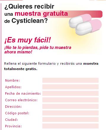 Muestras gratis de Cysticlean para la cistitis