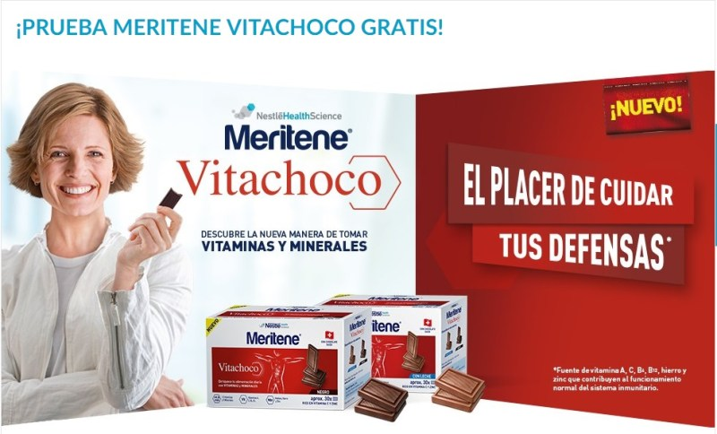 Muestras gratis de chocolate Vitachoco