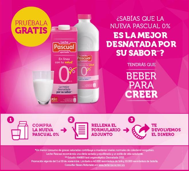 Prueba gratis 1L de leche Pascual