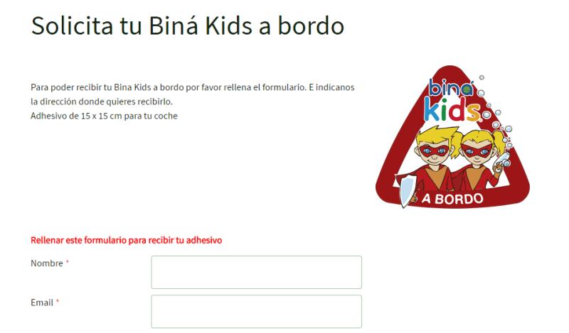 Adhesivos para el coche gratis Bina kids