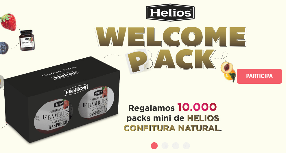 Consigue gratis un pack mini de confituras Helios