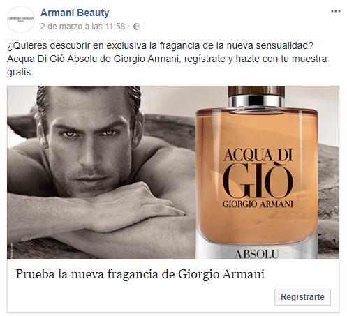 Muestras gratis de perfume Aqua Di Gio