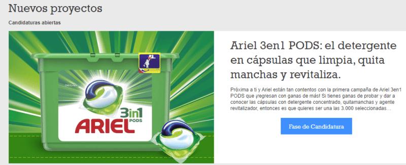 6.000 personas probaran gratis Ariel 3 en 1 pods