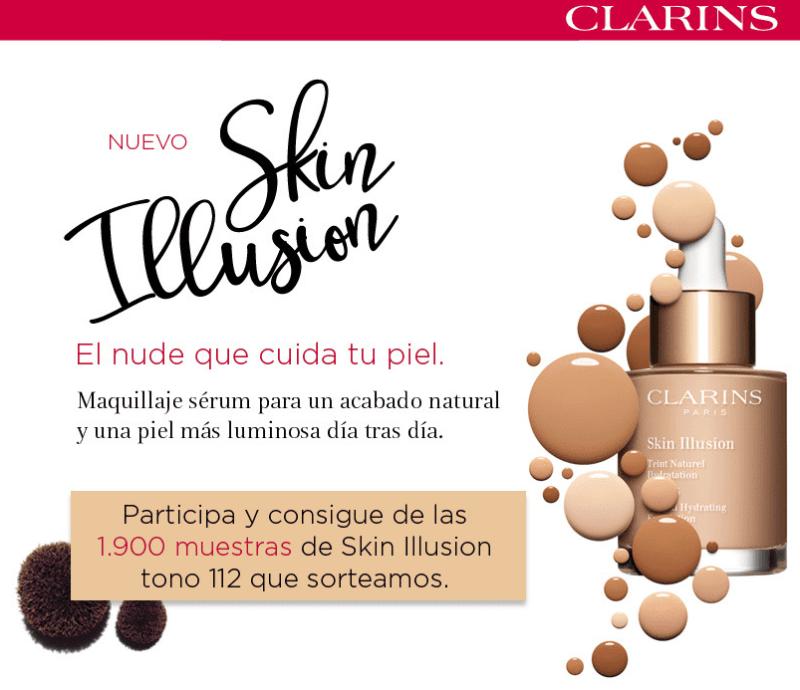 muestras gratis de Skin Illusion de Clarins