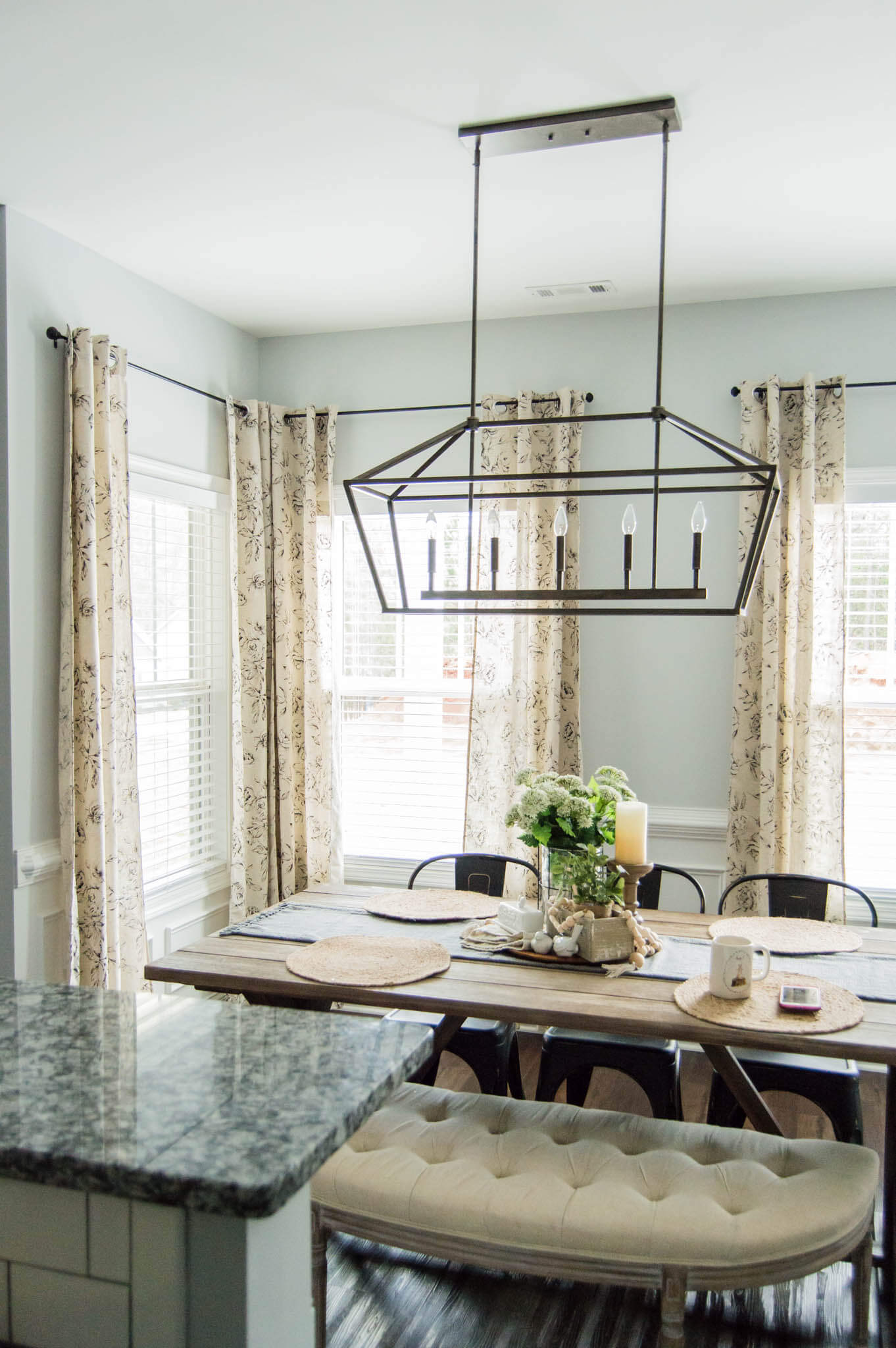 The Perfect Farmhouse Floral Curtains My Curtain Hanging Hacks