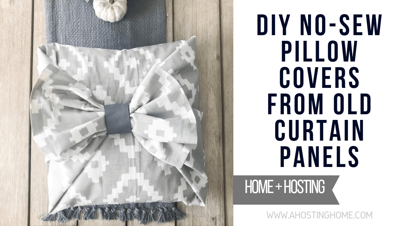 diy no sew pillow covers from old