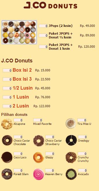 Jenis Donat Jco : jenis, donat, Harga, Gelas