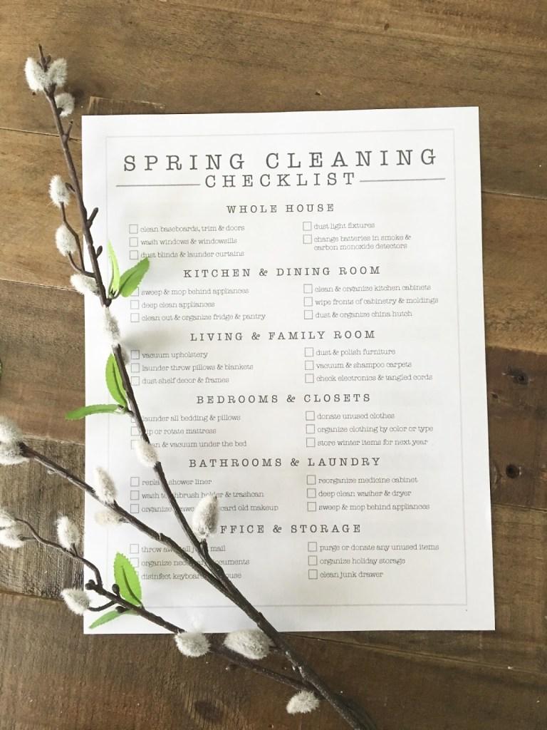 Spring Cleaning Checklist FREE PRINTABLE | ahouseandadog.com