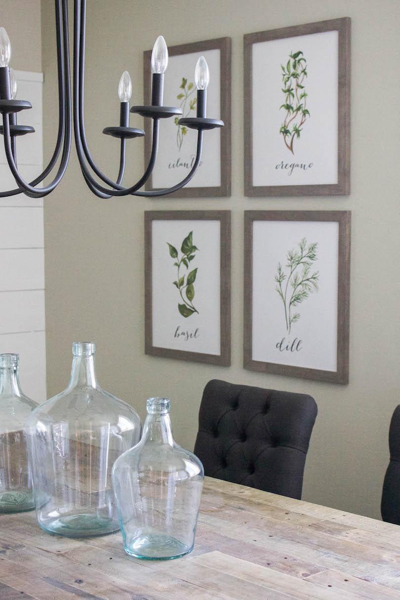 farmhouse herb prints