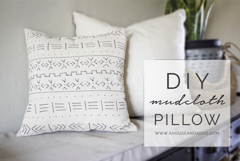 Create your own DIY Mudcloth Pillow!