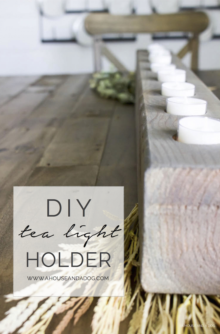DIY Tea Light Holder - simple, easy, and fast craft project!