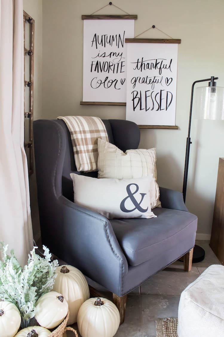 Decorating for Fall - Simple & Easy | ahouseandadog.com