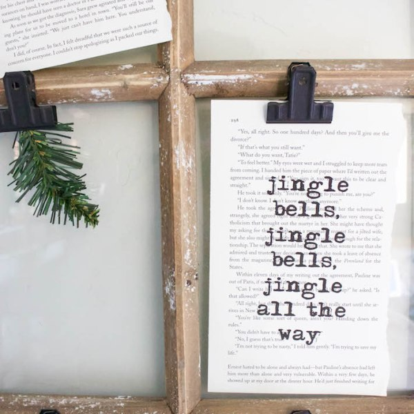Christmas Book Art with FREE Printables | ahouseandadog.com