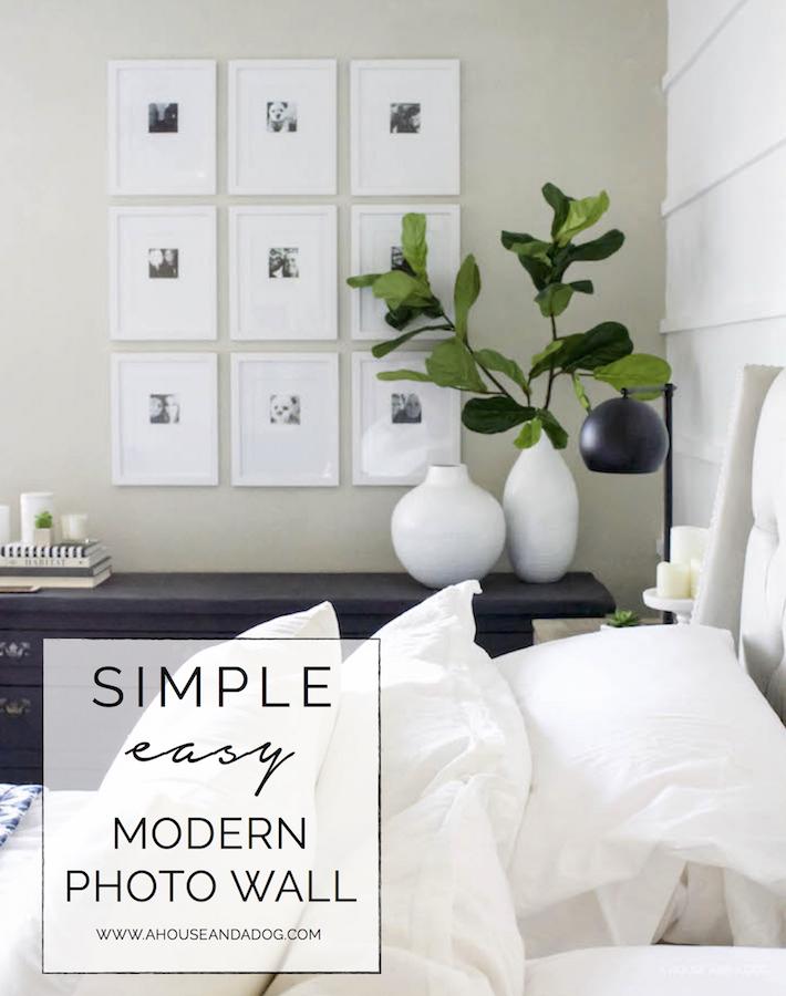 Simple & Easy Photo Wall Using Phone Photos | ahouseandadog.com